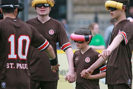Auch in dieser Saison dabei -die Blindenfußballer des FC.St.Pauli aus Hamburg.