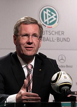Engagiert sich für die DBFL - Bundespräsident Christian Wulff
