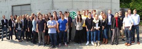 Zu Besuch in der DFB-Zentrale - die MHMK-Studierenden