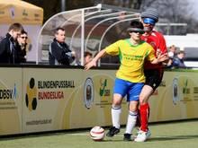 Spannung garantiert: die Blindenfußball-Bundesliga