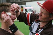 Engagiert für den Blindenfussball in Hamburg Coach Wolf Schmidt