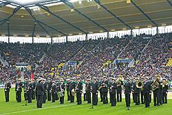 Von Aachen nach Berlin - das Bundespolizei-Orchester Hannover präsentiert beim Tag des Blindenfußballs die Nationalhymnen