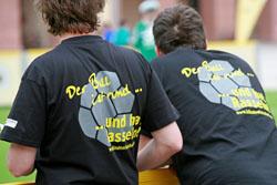 Volunteers der Humboldt-Werkrealschule unterstützten den Spieltag